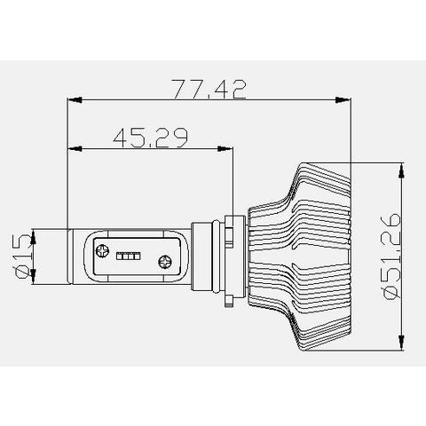 Набор светодиодного головного света UP-7HL-PSX26W-4000Lm (PSX26, 4000 лм, холодный белый) Превью 4