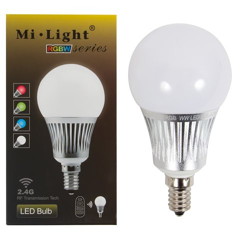 Світлодіодна лампочка MiLight RGBW 5W E14 WW (теплий білий) Прев'ю 1