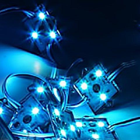 Комплект квадратних LED-модулів (WS2811, повноколірні, 3 світлодіоди SMD5050, IP67, 20 шт.) Прев'ю 1