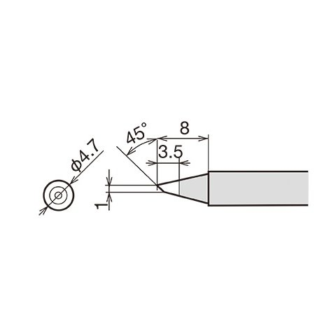 Soldering Iron Tip Goot RX-80HRT-1BC Preview 1